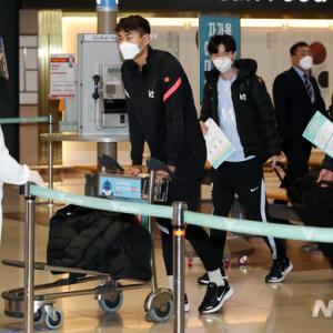 オーストリアで新型コロナ陽性判定を受けた韓国代表が帰国…ナ・サンホは29日に隔離解除の予定