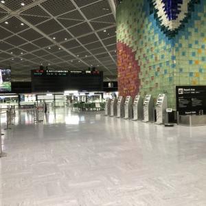 閑散とした成田空港