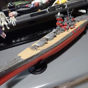 フジミ 1/700 ハイスクール・フリート 大和型 超大型直接教育艦 「武蔵」完成です。