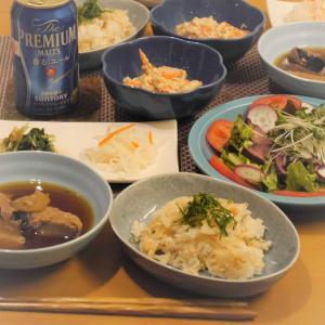 【うちごはん】冷蔵庫在庫一掃!ローストビーフサラダ、ぶり大根、レンコンと鮭のちらし寿司