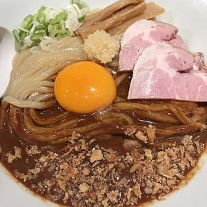 沖縄市にある、らー麺 アオキジで冷やしカレーまぜ麺を食べたよ!!