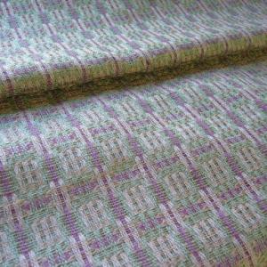 ジョセフィーヌさんの二重織りが織り上がりました。