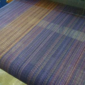 杉綾織り、後染めマフラー