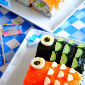 ★こいのぼりの巻き寿司★(デコ巻き)