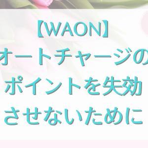 【WAON】オートチャージのポイントを失効させないために