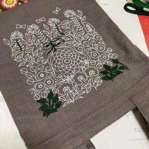一年ぶりの刺繍