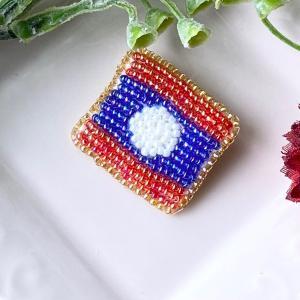 新作国旗 ラオス
