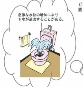 大雨でトイレが!?