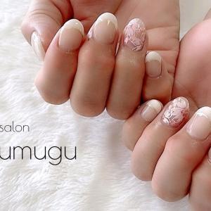 フレンチ×桜デザインで究極の上品ネイル☆