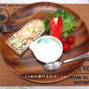 *メリ☆食* ごま食パンが美味しい!本日のワンプレートモーニング♪
