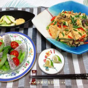 *メリ☆食* 「輝楽食菜市」で購入した野菜&フルーツで夕食♪