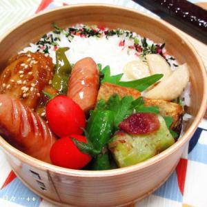 *メリ☆食* 浜松産レンコンの甘酢炒めで曲げわっぱ弁当♪