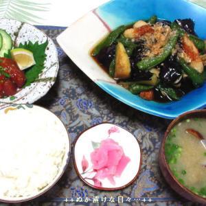 *メリ☆食* 大分のりゅうきゅうと煮浸しで夕食♪