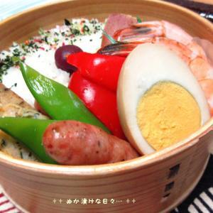 *メリ☆食* 鶏肉のミートローフで曲げわっぱ弁当♪