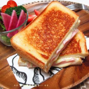 *メリ☆食* グリルチーズサンドイッチでワンプレートモーニング♪