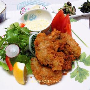 *メリ☆食* 牡蠣フライで夕食♪