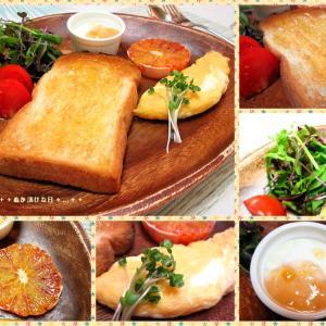 *メリ☆食* ハチミツバタートーストでワンプレートモーニング♪