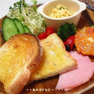*メリ☆食* 卵サラダでワンプレートモーニング♪