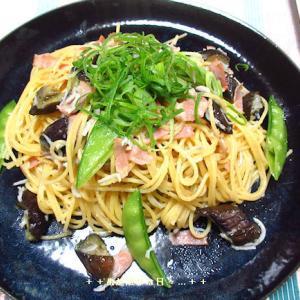 *メリ☆食* 釜揚げシラスの和風ペペロンチーノで夕食♪