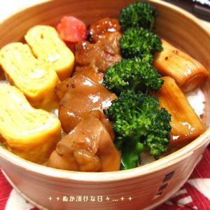 *メリ☆食* 焼き鳥丼で曲げわっぱ弁当♪
