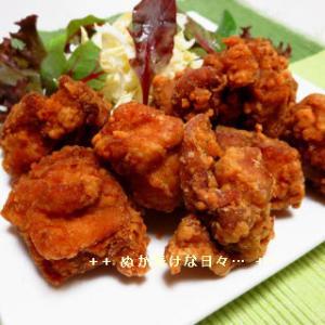 *メリ☆食* 黄金比率の自家製鶏の唐揚とうまかっちゃんで夕食♪