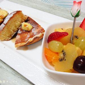 *メリ☆食* パンケーキでワンプレートモーニング♪