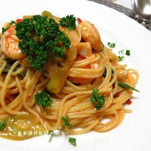 *メリ☆食* 濃厚紅ずわい蟹のクリームパスタで夕食♪