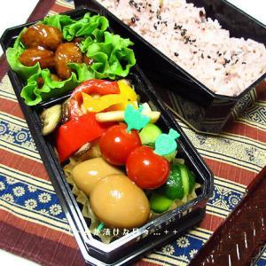 *メリ☆食* うずら卵とミニトマトのスティックでお弁当♪