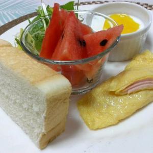 *メリ☆食*ハムチーズオムレツでワンプレートモーニング♪