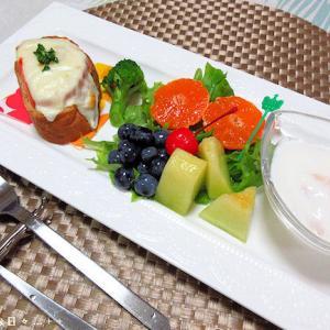 *メリ☆食* フルーツ盛り合わせな本日のワンプレートモーニング♪