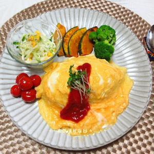 *メリ☆食* オムライスと焼肉丼2件の夕食♪