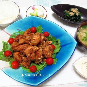 *メリ☆食* 鶏の唐揚げで夕食♪