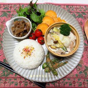 *メリ☆食* 鶏と白菜のミルク煮でワンプレートご飯