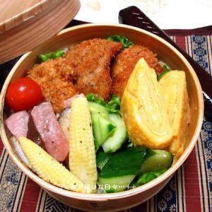 *メリ☆食* チキンの香草パン粉乗っけ弁♪