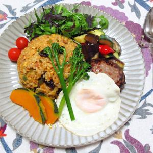 *メリ☆食* カレー焼き飯でワンプレートご飯