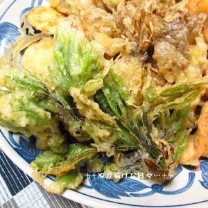 *メリ☆食* 香がいい春の山菜で天ぷらで夕食♪