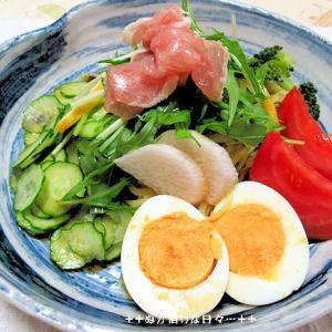 *メリ☆食* サラダ冷やし中華で夕食♪&グルメキッチン来未の焼き鳥!