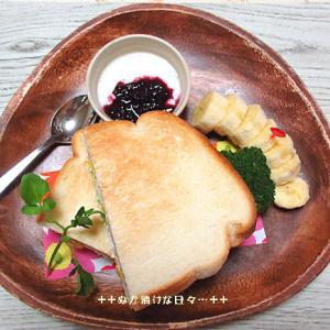 *メリ☆食* コーンマヨトーストサンドでワンプレートモーニング♪