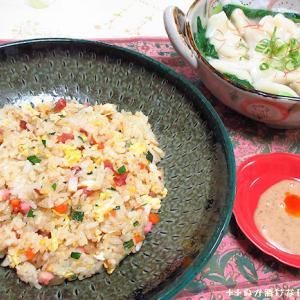 *メリ☆食* チャーハンと水餃子で夕食♪