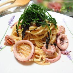 *メリ☆食* イカとホタテの明太子クリームソースパスタで夕食♪