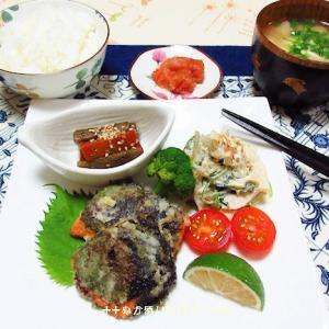 *メリ☆食* 新鮭の大葉巻きと茄子の味噌炒めで夕食♪2件