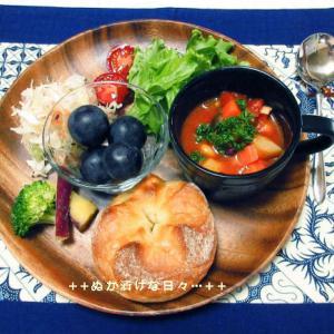 *メリ☆食* 野菜たっぷりスープで本日のワンプレートモーニング♪