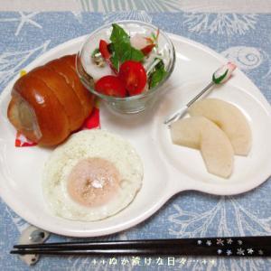 *メリ☆食* 菓子パンで本日のワンプレートモーニング♪