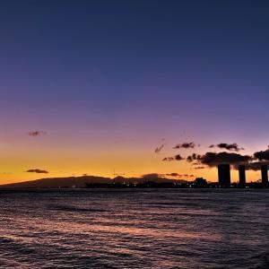 ハワイを離れるファミリー さようなら