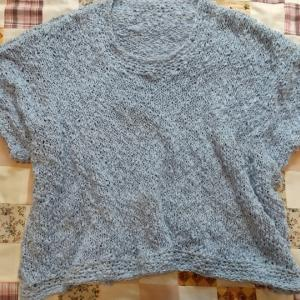 サマーセーター編みあがりました。