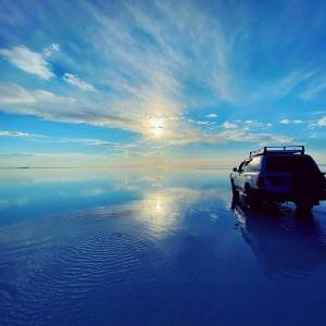 リベンジ旅@ウユニ塩湖に来ています!