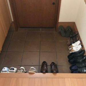 【旦那さんの成長】理由もわからず靴を並べる