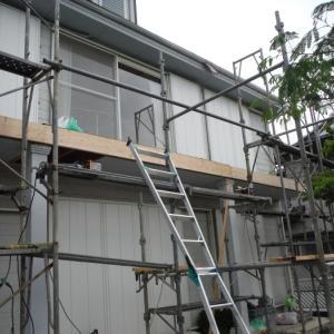 台風被害 ~  ベランダ壁つくり。