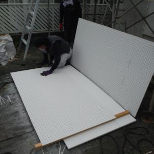 台風被害 ~ サイディング工事 。