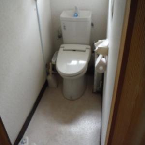 洗面所とトイレの床 ~ トイレの床工事 。